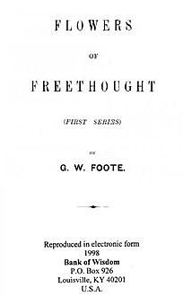 Flowers of Freethought / (Second Series), G.W.Foote