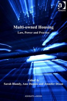 Multi-owned Housing, Ann Dupuis, Jennifer Dixon, Sarah Blandy