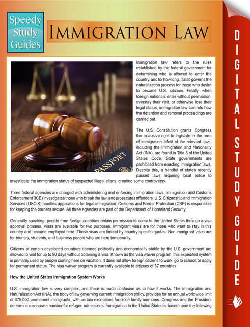 Immigration Law (Speedy Study Guides), Speedy Publishing