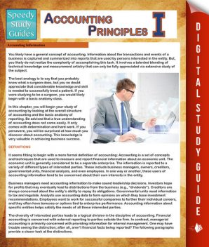 Accounting Principles 1 (Speedy Study Guides), Speedy Publishing
