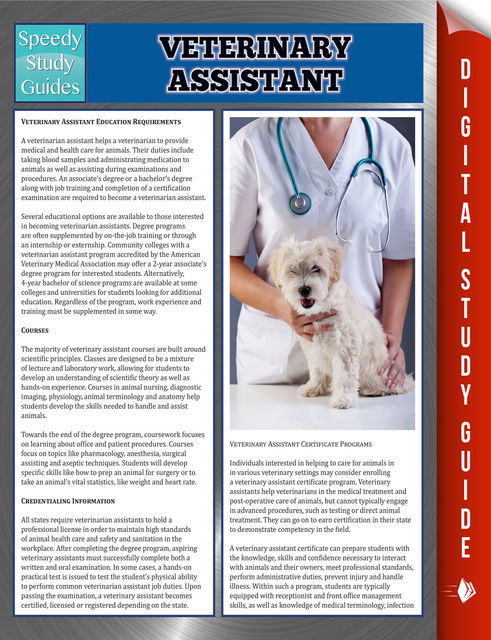 Veterinary Assistant Speedy Study Guides, Speedy Publishing