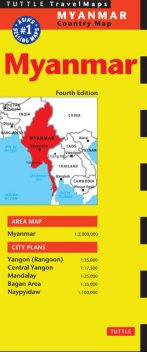 Myanmar Travel Map Fourth Edition, Periplus Editions