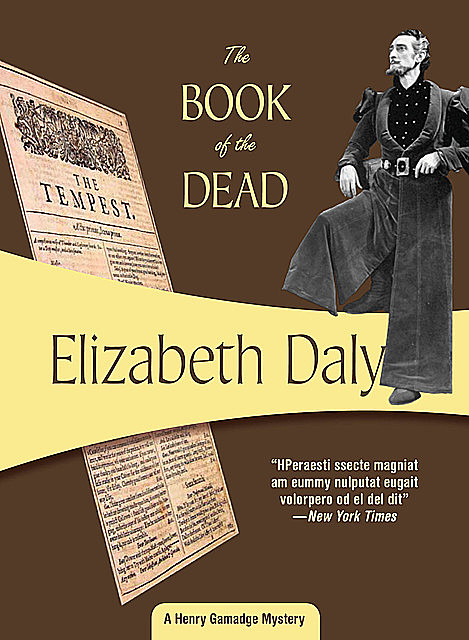 The Book of the Dead, Elizabeth Daly