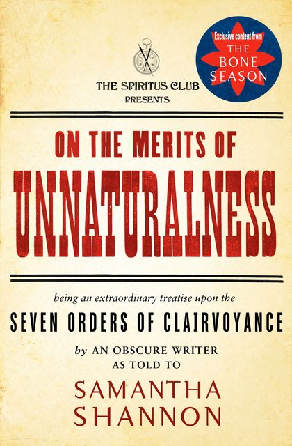 On the Merits of Unnaturalness, Samantha Shannon