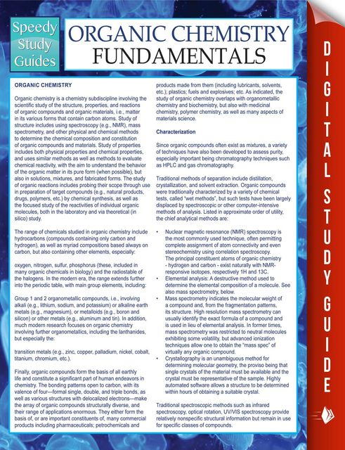 Organic Chemistry Fundamentals Study Guide, Speedy Publishing