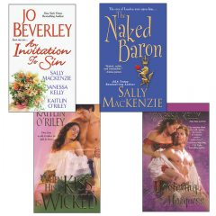 Hot Historicals Bundle with An Invitation to Sin, The Naked Baron, When His Kiss Is Wicked, & Mastering the Marquess, Jo Beverley, Sally MacKenzie, Vanessa Kelly, Kaitlin O'Riley