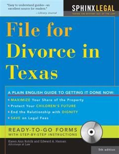 File for Divorce in Texas, Edward A Haman