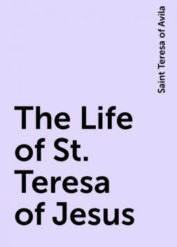 The Life of St. Teresa of Jesus, Saint Teresa of Avila