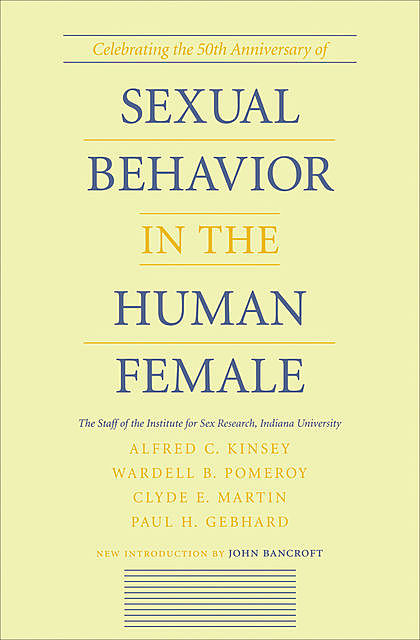 Sexual Behavior in the Human Female, Alfred C.Kinsey