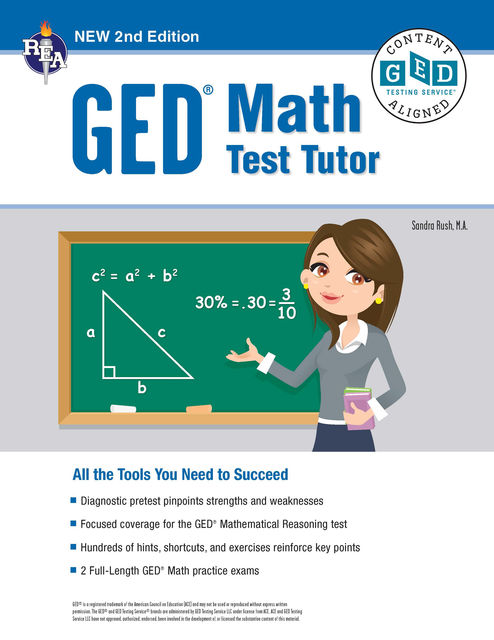 GED® Math Test Tutor, 2nd Edition, Sandra Rush