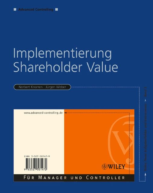 Implementierung Shareholder Value, rgen Weber, uuml, Norbert Knorren