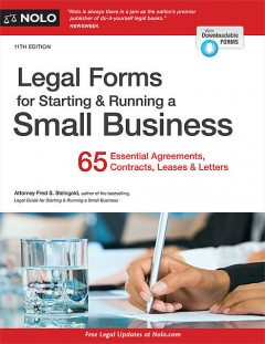 Legal Forms for Starting & Running a Small Business, Fred S.Steingold