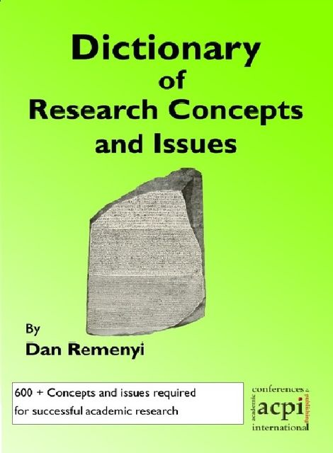 Dictionary of Research Concepts and Issues, Dan Remenyi