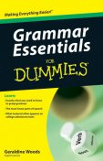 Grammar Essentials For Dummies, Geraldine Woods