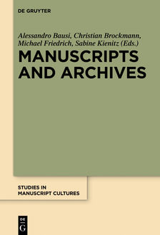 Manuscripts and Archives, Walter de Gruyter