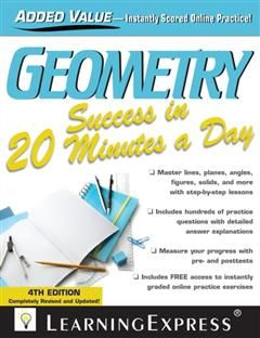 Geometry Success in 20 Minutes a Day, LearningExpress LLC