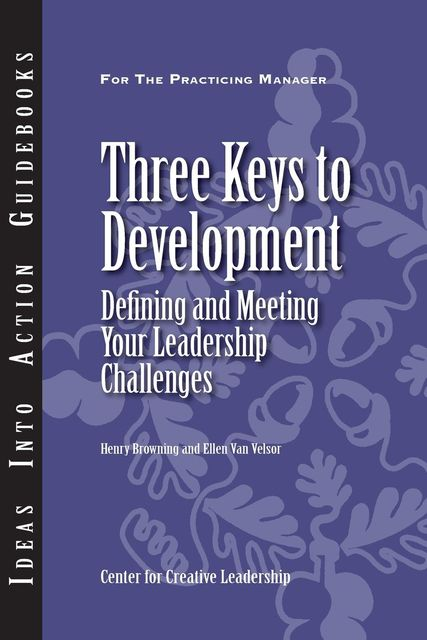 Three Keys to Development, Henry Browning, Ellen Van Velsor