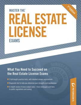 Master The Real Estate License Examinations, Peterson's