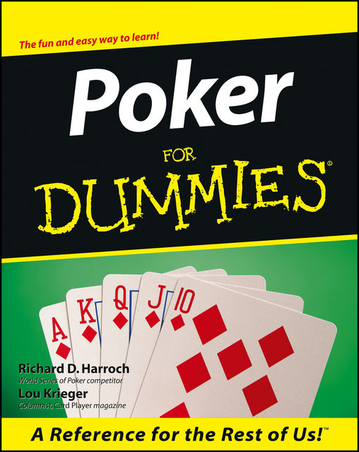 Poker For Dummies, Lou Krieger, Richard D.Harroch