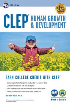 CLEP Human Growth & Development, 10th Ed., Book + Online, Norman Rose