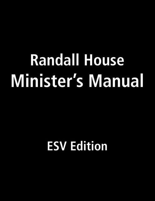 Randall House Minister's Manual ESV Edition, Billy Melvin