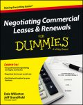 Negotiating Commercial Leases & Renewals For Dummies, Dale Willerton, Jeff Grandfield