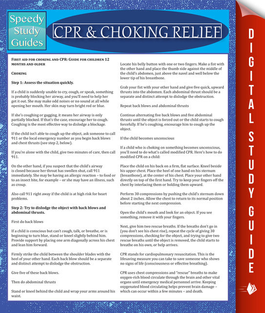 CPR & Choking Relief, Speedy Publishing
