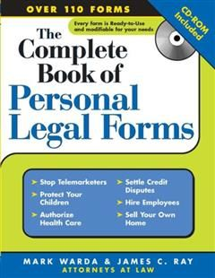 Complete Book of Personal Legal Forms, Mark Warda