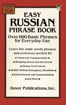 Easy Russian Phrase Book, Dover Publications