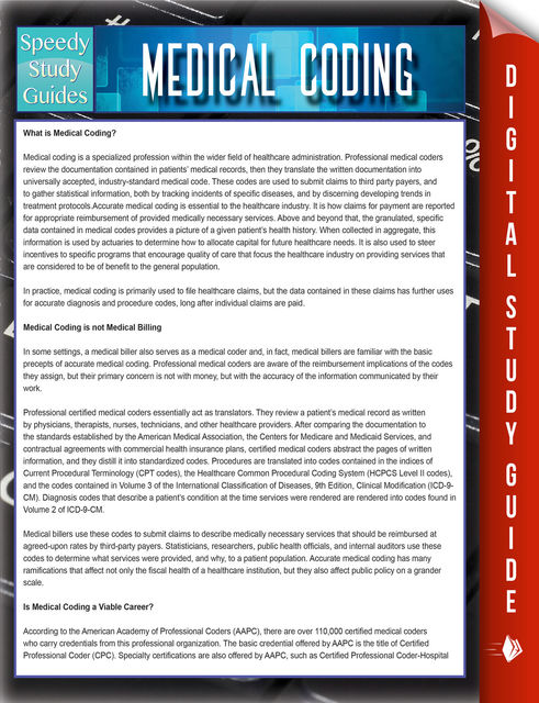 Medical Coding Speedy Study Guides, Speedy Publishing