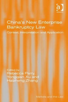 China's New Enterprise Bankruptcy Law, Rebecca Parry