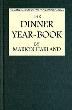 The Dinner Year-Book, Marion Harland