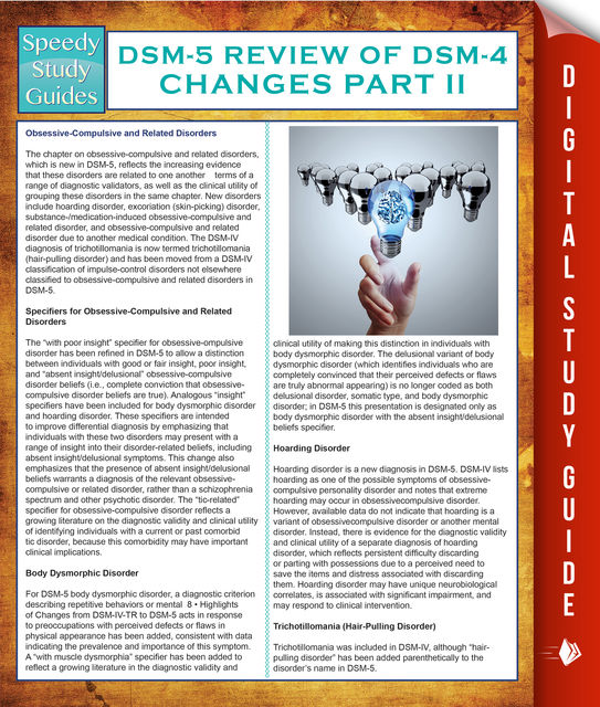 DSM-5 Review of DSM-4 Changes Part II (Speedy Study Guides), Speedy Publishing