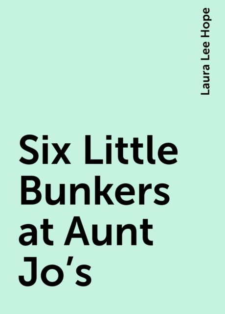 Six Little Bunkers at Aunt Jo's, Laura Lee Hope
