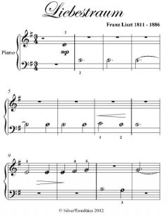 Liebestraum Beginner Piano Sheet Music, Franz Liszt