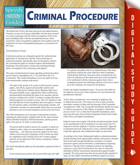 Criminal Procedure (Speedy Study Guides), Speedy Publishing