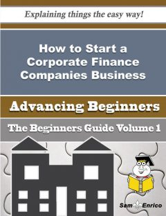 How to Start a Corporate Finance Companies Business (Beginners Guide), Alla Pinkston