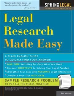 Legal Research Made Easy, Suzan Herkowitz Herskowitz
