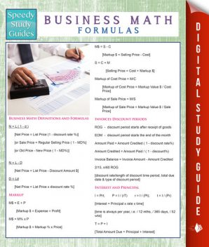 Business Math Formulas (Speedy Study Guides), Speedy Publishing