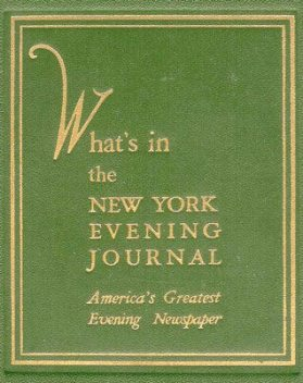 What's in the New York Evening Journal / America's Greatest Evening Newspaper, New York Evening Journal