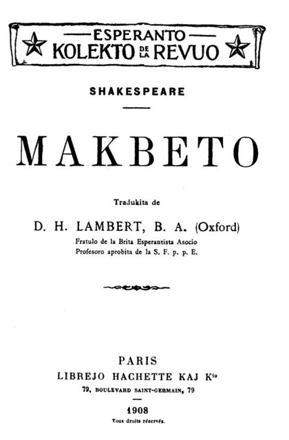 Makbeto, William Shakespeare