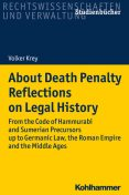 About Death Penalty. Reflections on Legal History, Volker Krey
