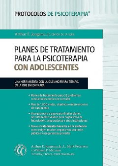 Planes de tratamiento para la psicoterapia con adolescentes, L.Mark Peterson, William P.McInnis, Timothy J.Bruce, Arthur E. Jongsma Jr.