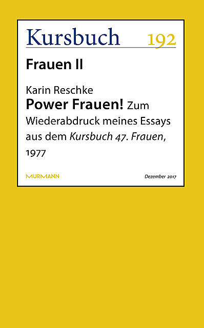Power Frauen, Karin Reschke
