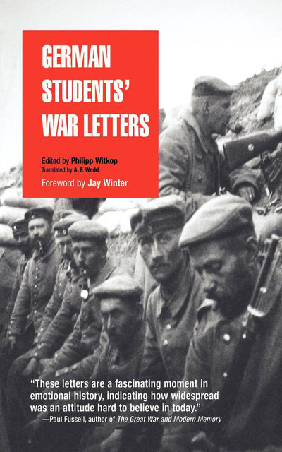 German Students' War Letters, Philipp Witkop