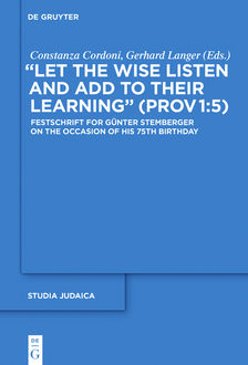 """Let the Wise Listen and add to Their Learning"""" (Prov 1:5), Constanza Cordoni, Gerhard Langer"""
