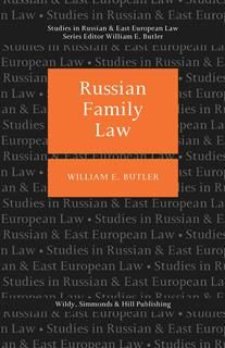 Russian Family Law, William E Butler