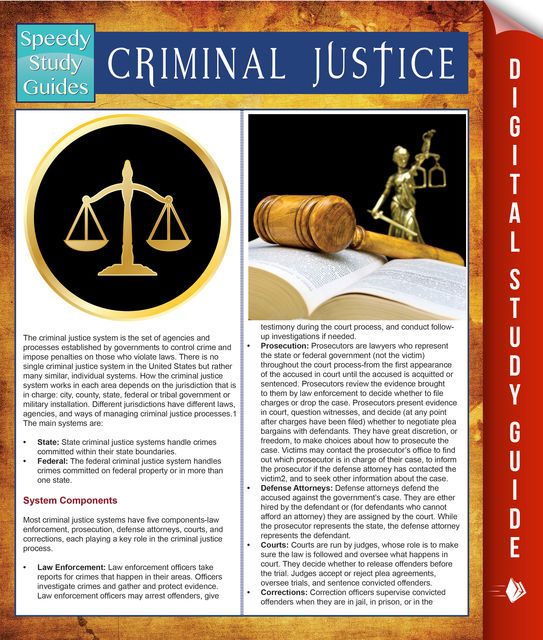 Criminal Justice (Speedy Study Guides), Speedy Publishing