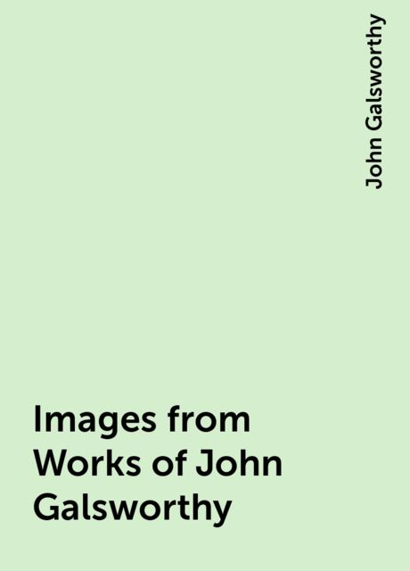Images from Works of John Galsworthy, John Galsworthy