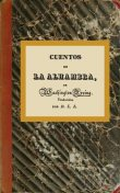Cuentos de la Alhambra, Washington Irving
